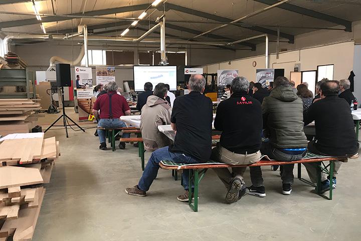 Zukunft diskutieren: Industrie und Handwerk treffen sich bei Treppenbau Diehl