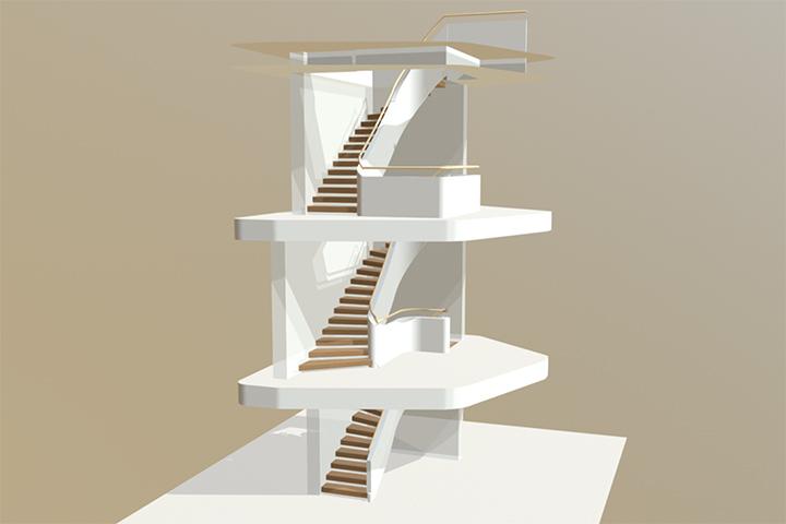 3D-Treppen-Visualisierung von Treppenbau Diehl