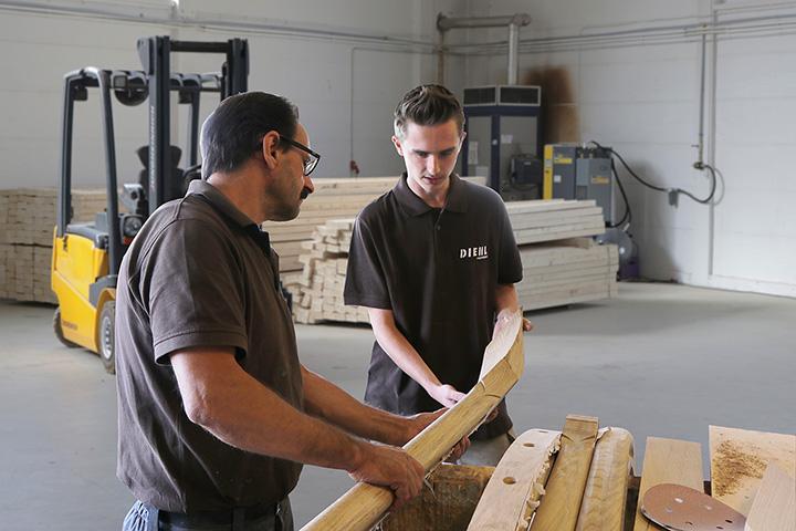 Niklas Kling beginnt seine Ausbildung bei Treppenbau Diehl