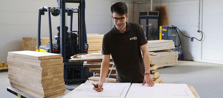 Treppenbau Diehl Mitarbeiter Tobias Krebser - Holztechniker